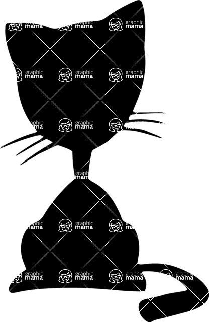 Pet Vectors - Mega Bundle - Cat Sitting Silhouette
