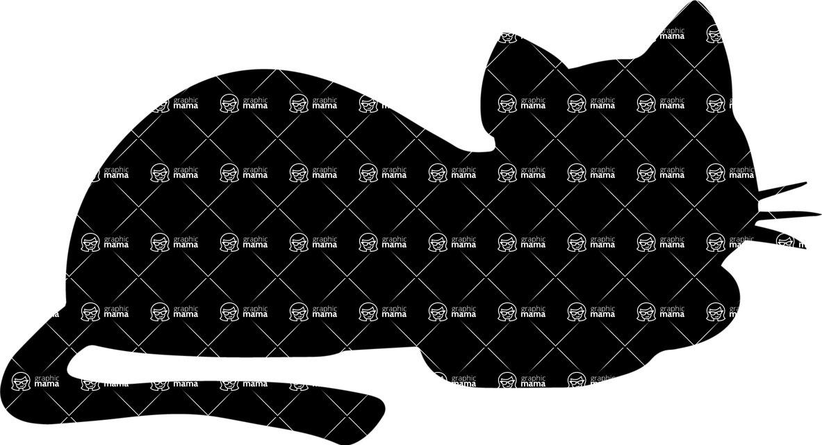 Pet Vectors - Mega Bundle - Cat Lying Down