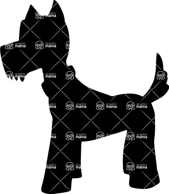 Pet Vectors - Mega Bundle - Terrier Dog with a Collar