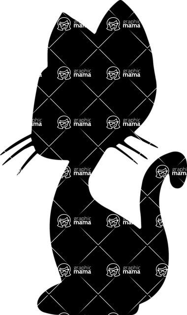 Pet Vectors - Mega Bundle - Kitty Cat Silhouette