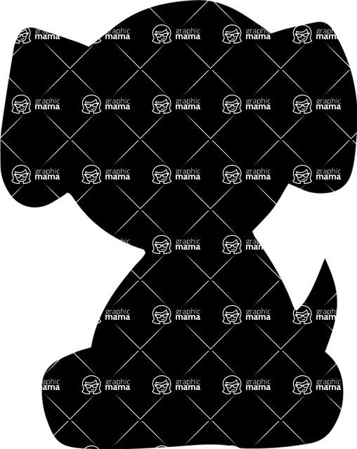 Pet Vectors - Mega Bundle - Cute Puppy Silhouette