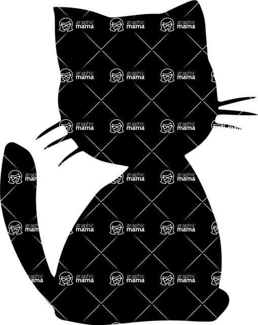 Pet Vectors - Mega Bundle - Cute Cat Silhouette