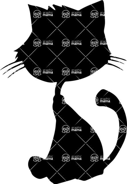 Pet Vectors - Mega Bundle - Sitting Cat Silhouette