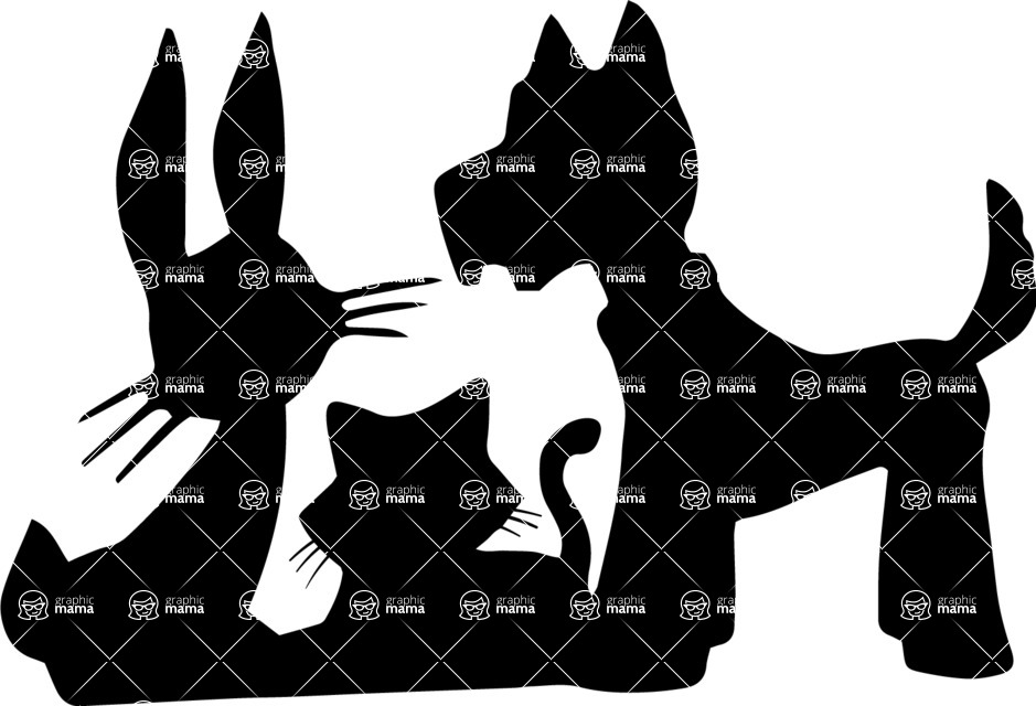Pet Vectors - Mega Bundle - Animals Silhouettes