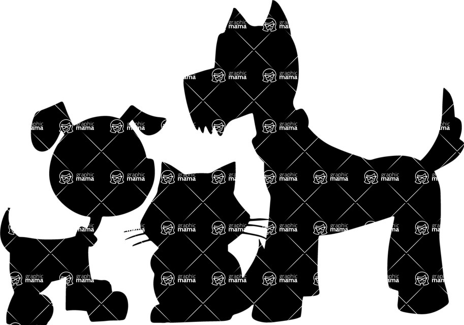 Pet Vectors - Mega Bundle - Home Animals Silhouettes