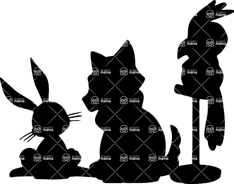 Pet Vectors - Mega Bundle - Animal Silhouettes Mix