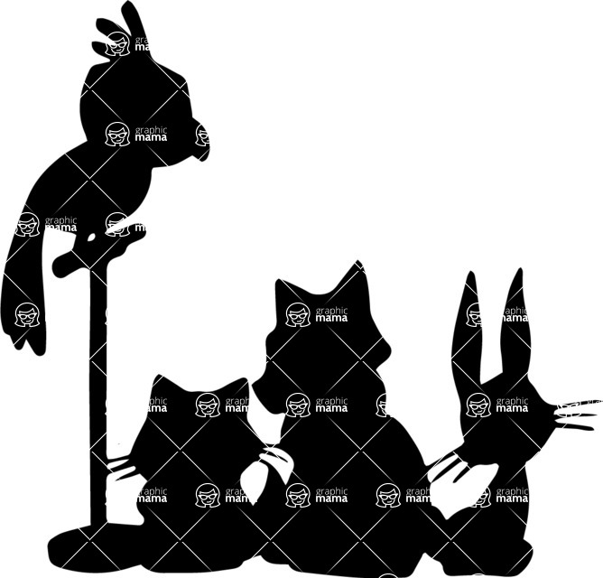 Pet Vectors - Mega Bundle - Various Home Animal Silhouettes