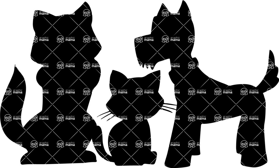 Pet Vectors - Mega Bundle - Dogs and a Kitten