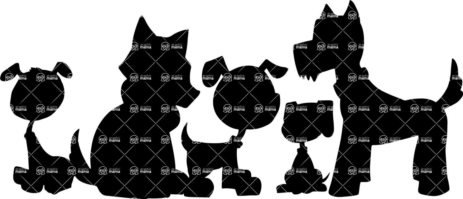 Pet Vectors - Mega Bundle - Group of Dogs