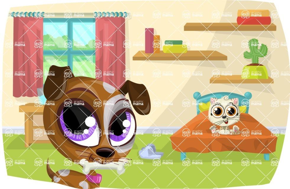 Pet Vectors - Mega Bundle - Dog and Cat at Home