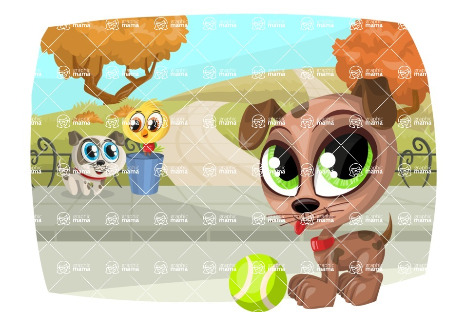 Pet Vectors - Mega Bundle - Pets at the Park