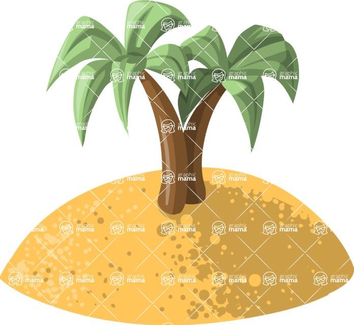 Pet Vectors - Mega Bundle - Island With Palm Trees