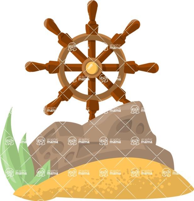 Pet Vectors - Mega Bundle - Ship Wheel Aquarium Decoration