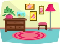 Pet Vectors - Mega Bundle - Living Room Interior