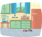 Pet Vectors - Mega Bundle - Kitchen with Pet Bowls