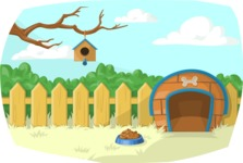 Pet Vectors - Mega Bundle - Backyard with a Dog House