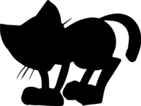 Animals: Best Buds - Cat Silhouette