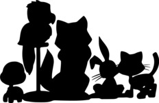 Animals: Best Buds - Various Pet Silhouettes