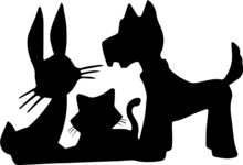 Animals: Best Buds - Animals Silhouettes