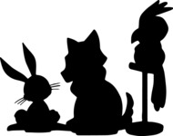 Animals: Best Buds - Animal Silhouettes Mix
