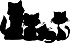 Animals: Best Buds - Cute Pets Silhouettes