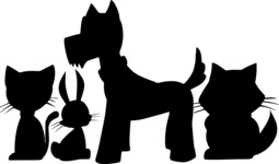 Animals: Best Buds - Home Pets Silhouette