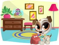 Pet Vectors - Mega Bundle - Cute Animals at Home