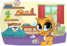 Pet Vectors - Mega Bundle - Pets in Bedroom