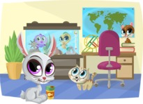 Pet Vectors - Mega Bundle - Pets in the Office