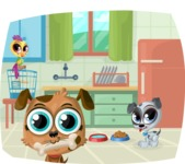 Pet Vectors - Mega Bundle - Pets in Kitchen