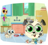 Pet Vectors - Mega Bundle - Cute Pets in the Kitchen