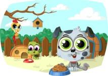 Pet Vectors - Mega Bundle - Pets in the Backyard