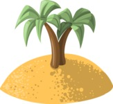 Pet Vectors - Mega Bundle - Island With Palm Trees