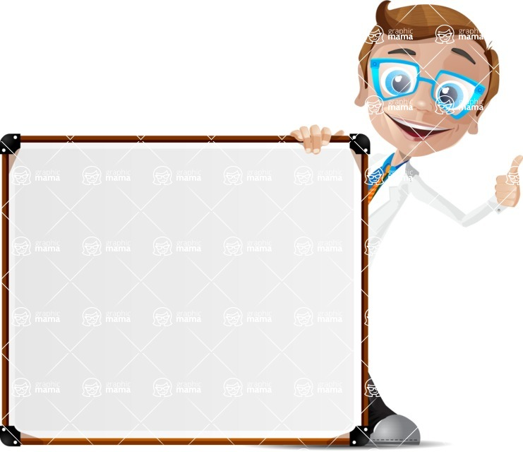 Mad Scientist Guy Cartoon Vector Character AKA Doctor Dorkster - Presentation 7