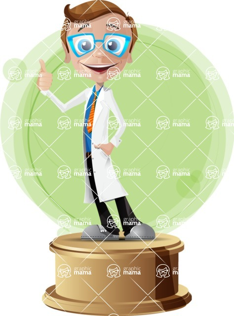 Mad Scientist Guy Cartoon Vector Character AKA Doctor Dorkster - Shape2