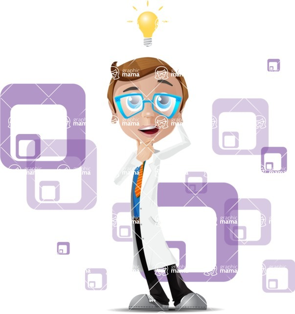 Mad Scientist Guy Cartoon Vector Character AKA Doctor Dorkster - Shape5