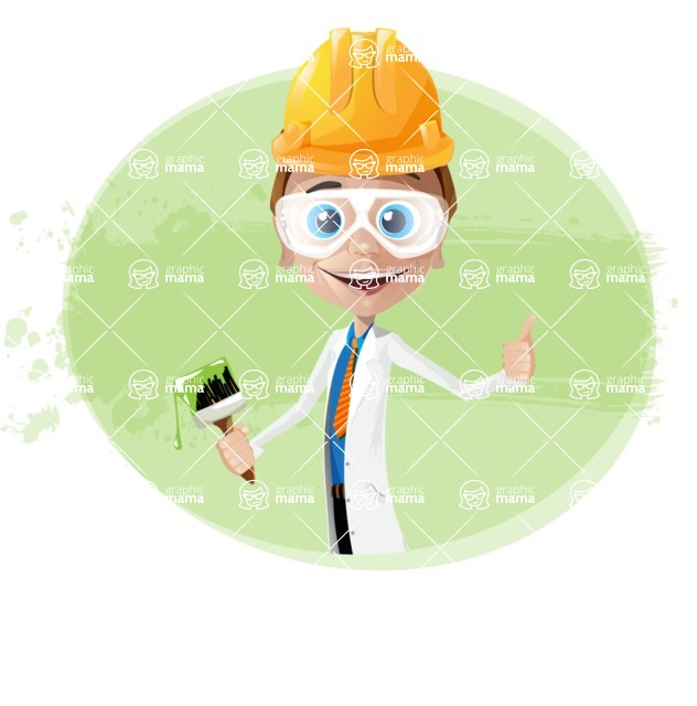 Mad Scientist Guy Cartoon Vector Character AKA Doctor Dorkster - Shape7