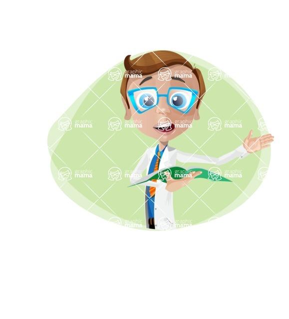 Mad Scientist Guy Cartoon Vector Character AKA Doctor Dorkster - Shape10