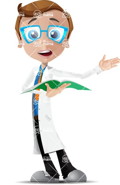 Mad Scientist Guy Cartoon Vector Character AKA Doctor Dorkster - Book 2