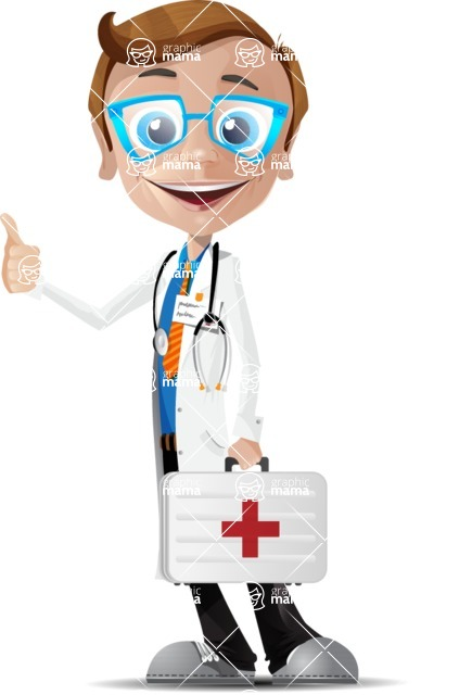 Mad Scientist Guy Cartoon Vector Character AKA Doctor Dorkster - Case