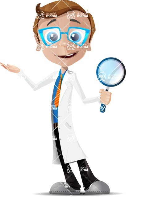 Mad Scientist Guy Cartoon Vector Character AKA Doctor Dorkster - Search