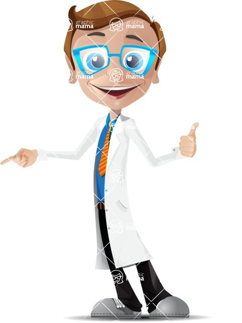 Mad Scientist Guy Cartoon Vector Character AKA Doctor Dorkster - Show 2