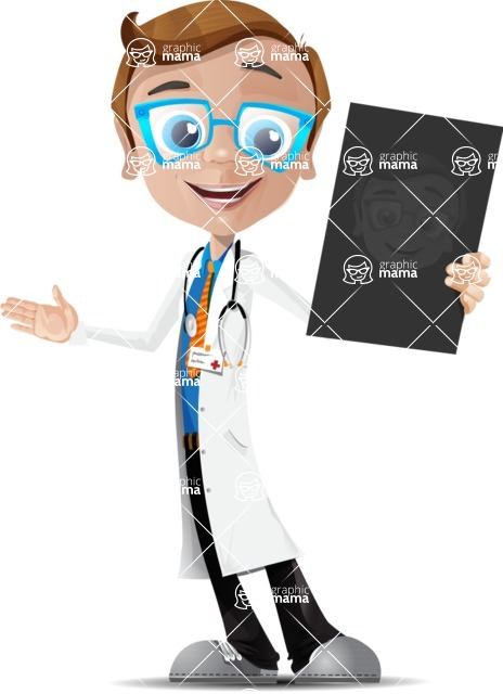Mad Scientist Guy Cartoon Vector Character AKA Doctor Dorkster - Radiography