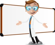 Mad Scientist Guy Cartoon Vector Character AKA Doctor Dorkster - Presentation 5
