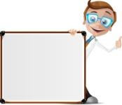 Mad Scientist Guy Cartoon Vector Character AKA Doctor Dorkster - Presentation 7