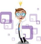 Mad Scientist Guy Cartoon Vector Character AKA Doctor Dorkster - Shape5