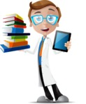 Mad Scientist Guy Cartoon Vector Character AKA Doctor Dorkster - Book and iPad