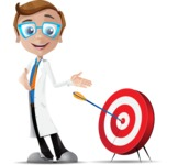 Mad Scientist Guy Cartoon Vector Character AKA Doctor Dorkster - Target