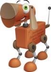 Old School Robot Dog Cartoon Vector Character AKA Robo Doug - Normal