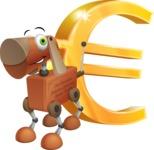 Old School Robot Dog Cartoon Vector Character AKA Robo Doug - Euro